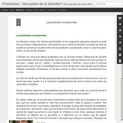 être client-e?: La prostitution occasionnelle