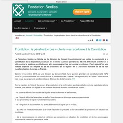 Prostitution : la pénalisation des « clients » est conforme à la Constitution