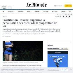 Prostitution : le Sénat supprime la pénalisation des clients de la proposition de loi
