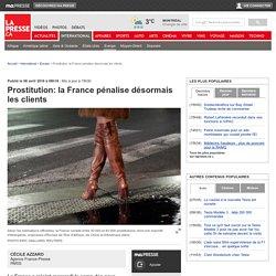 Prostitution: la France pénalise désormais les clients
