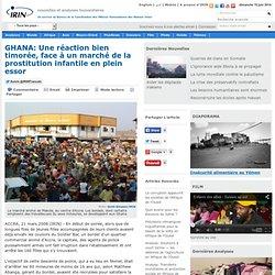 GHANA: Une réaction bien timorée, face à un marché de la prostitution infantile en plein essor