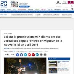 Loi sur la prostitution: 937 clients ont été verbalisés depuis l'entrée en vigueur de la nouvelle loi en avril2016