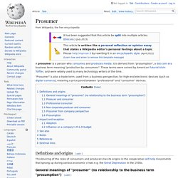 Prosumer - Wikipedia