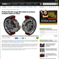 Protean Electric snags $84 million to produce in-wheel motors in China