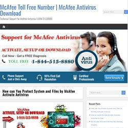 How can You Protect System and Files by McAfee Activate Antivirus