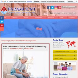 How to Protect Arthritic Joints While Exercising