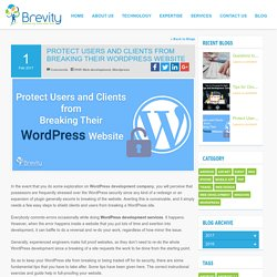 Protect Users and Clients from Breaking Their WordPress Website