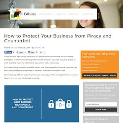 How to Protect Your Business from Piracy and Counterfeit