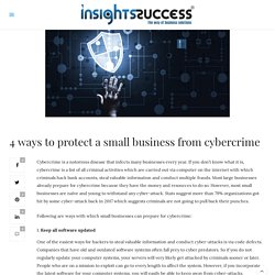 4 ways to protect a small business from cybercrime