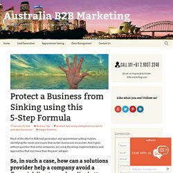 Protect a Business from Sinking using this 5-Step Formula