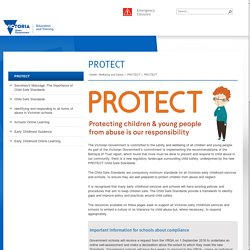 PROTECT Child Safe Standards - Home