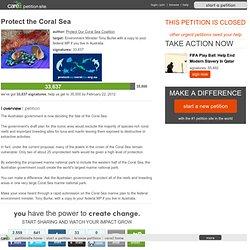 Protect the Coral Sea