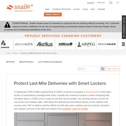 Protect Last-Mile Deliveries with Smart Lockers
