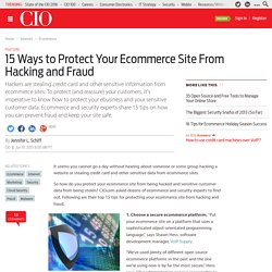 15 Ways to Protect Your Ecommerce Site From Hacking and Fraud