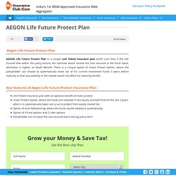 AEGON Life Future Protect ULIP Plan Review, Features and Benefits