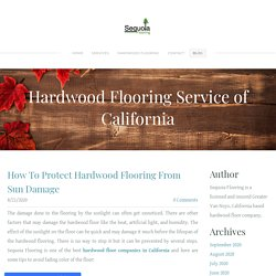How To Protect Hardwood Flooring From Sun Damage