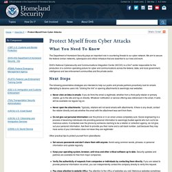 Protect Myself from Cyber Attacks