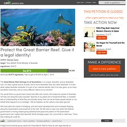 Protect the Great Barrier Reef. Give it a legal identity