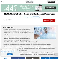 Flu Shot Fails to Protect Seniors and Increases Miscarriages