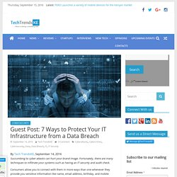 7 Ways to Protect Your IT Infrastructure from a Data Breach