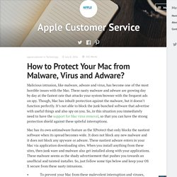 How to Protect Your Mac from Malware, Virus and Adware? – Apple Customer Service