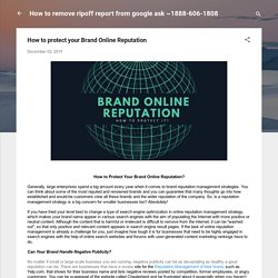 How to protect your Brand Online Reputation