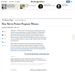 How Not to Protect Pregnant Women