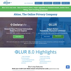Protect your Privacy with Abine