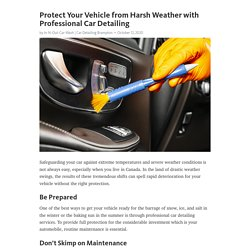 Protect Your Vehicle from Harsh Weather with Professional Car Detailing
