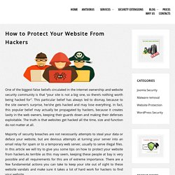 How to Protect Your Website From Hackers – Security Blog