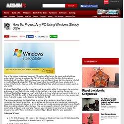 How To: Protect Any PC Using Windows Steady State