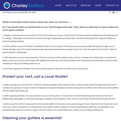 Protect Your Roof From Storms, Heavy Rain, Wind, Ice And Snow - Chorley Rooftech