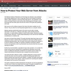 How to Protect Your Web Server from Attacks