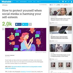 How to protect yourself when social media is harming your self-esteem