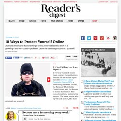10 Ways to Protect Yourself Online