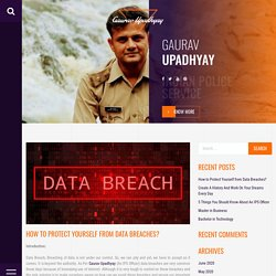 How to Protect Yourself from Data Breache?