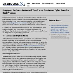 Keep your Business Protected: Teach Your Employees Cyber Security Best Practices