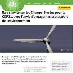 Ikea s'invite sur les Champs-Elysées pour la COP21, avec l'envie d'engager les protecteurs de l'environnement