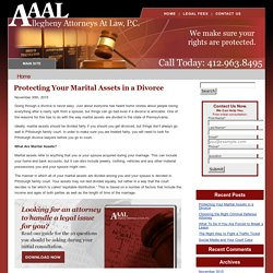 Protecting Your Marital Assets in a Divorce