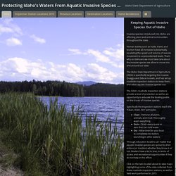 Protecting Idaho's Waters From Aquatic Invasive Species - 2015 Field Season