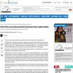 How IFAs are protecting their business from cyber attack - Cafemutual.com