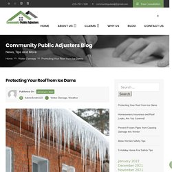 Protecting Your Roof from Ice Dams - Community Public Adjusters