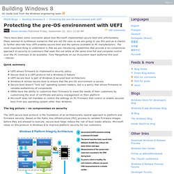Protecting the pre-OS environment with UEFI - Building Windows 8