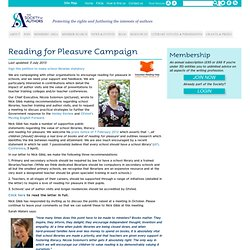 Reading for Pleasure Campaign | Society of Authors - Protecting the rights and furthering the interests of authors