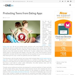 Protecting Kids from Dating Apps