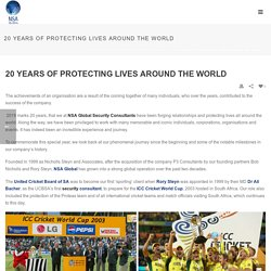 20 Years of Protecting Lives Around the World