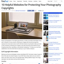 10 Helpful Websites for Protecting Your Photography Copyrights