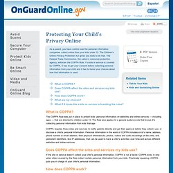 Protecting Your Child's Privacy Online