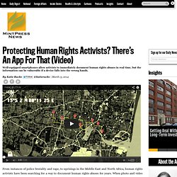 Protecting Human Rights Activists? There's An App For That (Video)