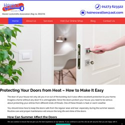 Protecting Your Doors from Heat – How to Make It Easy